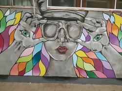 פעילות קהילתית של ציור קיר