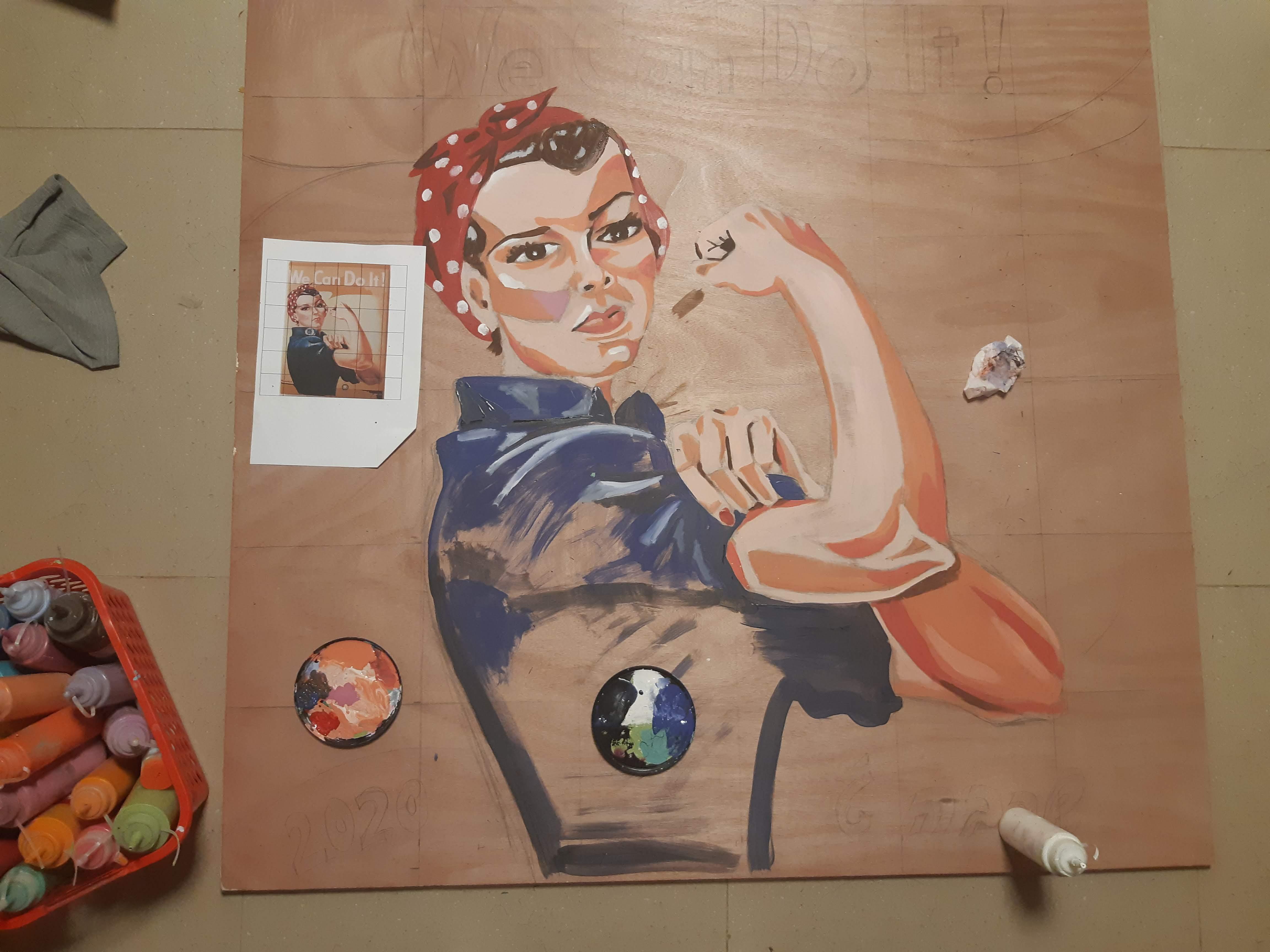 הכנת ציור לעבודת פסיפס