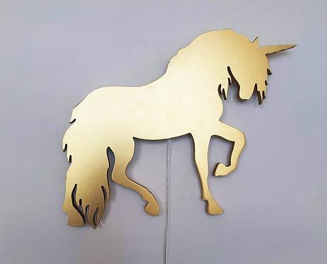 גוף תאורה חד קרן זהב