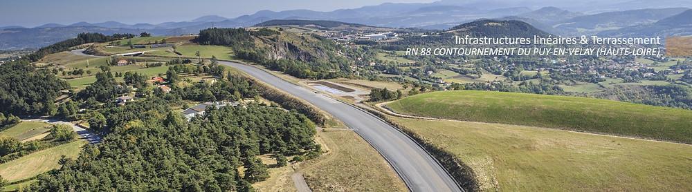Vue aérienne de la déviation du Puy.