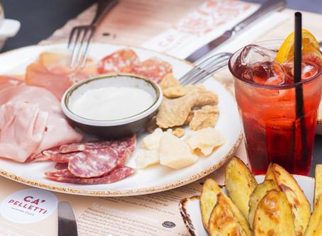 Solo da Ca' Pelletti l'aperitivo si trasforma in un Super Aperitivo!