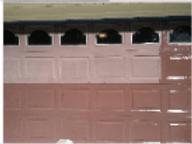 Half done garage door