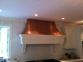 Copper Hood in kitchen is protected with ProtectaClear to prevent tarnish and keep it copper.