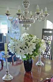 Silver Chandelier and Candlesticks protected iwth Everbrite to stop tarnish on silver