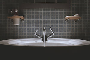Sink and Bathtub hardware can be protected from microbe growth with CrobialCoat