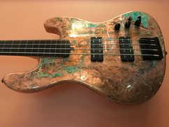 Copper Guitar Restored with Everbrite