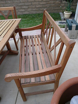 Teak Patio table and chairs color restored and protected with Everbrite