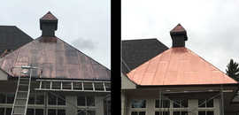 Copper Roof Restored with Everbrite