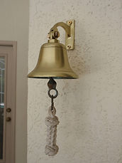 Brass Door Bell polished and protected with ProtectaClear