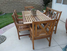 Teak Table Restored with ProtectaClear