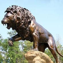 Restored Bronze Statue