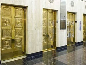 Protected Brass Elevator