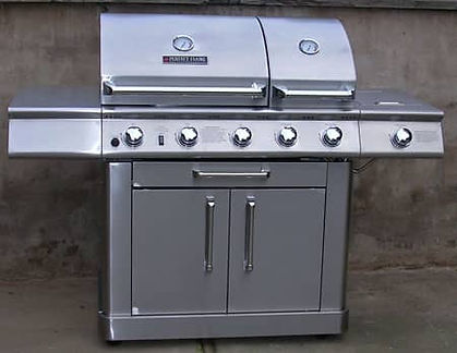 Stainless steel grill protected from rust and corrosion with ProtectaClear