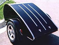 Black teardrop trailer that has been protected with Everbrite to stop oxidation and fading.
