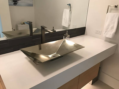 White bronze sink sealed & protected with ProtectaClear