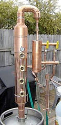 Copper stills protected with ProtectaClear to stop tarnish