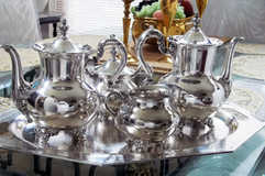 Silver Tea Set Restored with ProtectaClear