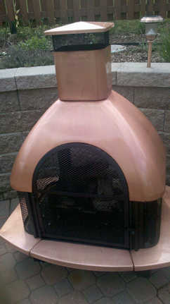 Copper Fireplace Restored with Everbrite