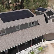 This is a picture of one of our solar projects. This is Don's roof with the solar array we installed.
