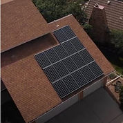 This is a picture of one of our solar projects. This is Eric's roof with the solar array we installed.