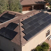 This is a picture of one of our solar projects. This is Steve's roof with the solar array we installed.
