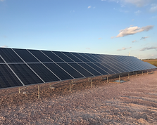 This is a picture of one of our solar projects. This is a ground mount solar array we installed for Coyote Ridge.