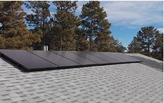 This is a picture of one of our solar projects. This is Jeff's roof with the solar array we installed.