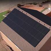 This is a picture of one of our solar projects. This is Mark's roof with the solar array we installed.