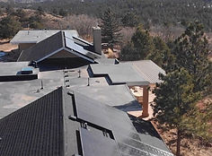 This is a picture of one of our solar projects. This is Grant's roof with the solar array we installed.