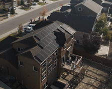 This is a picture of one of our solar projects. This is Misty's roof with the solar array we installed.