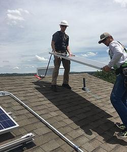 Aim High Solar teaching how to install solar at the UCCS Sustainability House