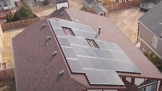 This is a picture of one of our solar projects. This is Todd's roof with the solar array we installed.