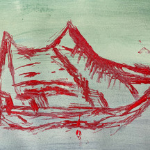 Van Shoe acrylic & ink drawings