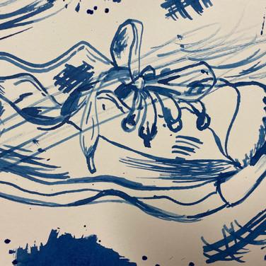 Van Shoe ink drawings