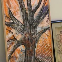 Tree drawing mixed media