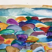 Pebbles watercolour