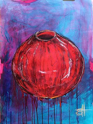 Red Glaze Bowl