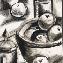 Observational drawing charcoal