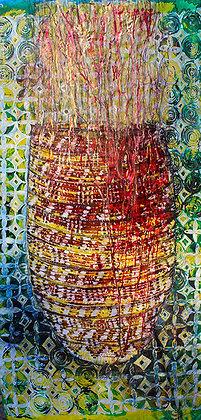 Zulu Woven Reed Basket