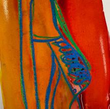 Van Shoe oil pastel & ink drawings