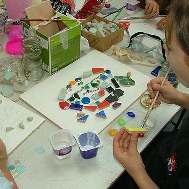 KS3 Art Club, mosaics