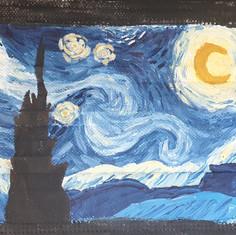 Van Gogh inspired mask