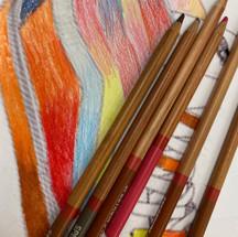 Van Shoe colour pencil blending