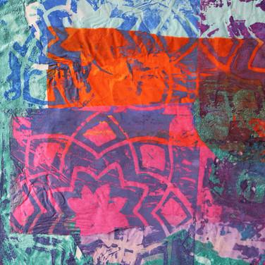 Lino prints, Arabic design