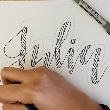 Creative lettering, Year 8