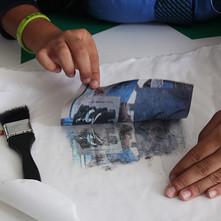 Photo transfers onto fabric