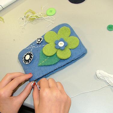 Activity week, felt & jewellery workshop