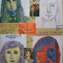 Year 8 Expressive Self-Portaits