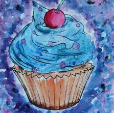 Cupcakes, watercolour