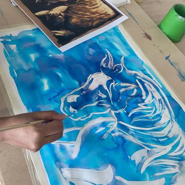 bleach drawing horse coastal.MP4